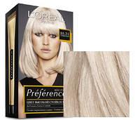 Краска для волос Loreal Preference 10.21 Стокгольм Светло-светло русый перламутровый осветляющий