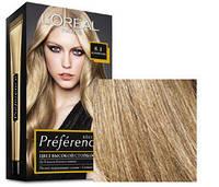 Краска для волос Loreal Preference 8.1 Копенгаген Светло-русый пепельный