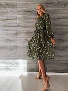 Элегантное платье длиною миди с длинным рукавом на манжете, фото 4
