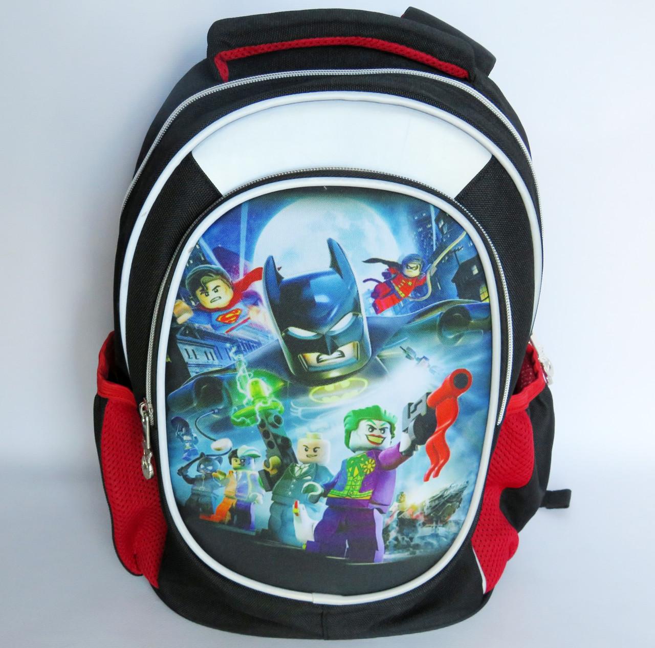 Шкільний рюкзак для хлопчика, з ортопедичною спинкою, Герої Лего