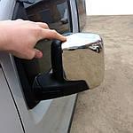 Накладки на дзеркала верхівки (2 шт, нерж.) для Peugeot Bipper (2008↗)