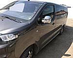 Накладки на дзеркала (2 шт., пласт.) Чорний хром для Peugeot Traveller 2017↗ рр.