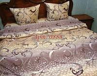 Комплект постельного БЯЗЬ оптом и в розницу, Большие вензеля на бежевом 0888