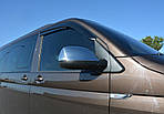 Накладки на зеркала (2 шт, хром) Хромированный пластик для Volkswagen T6 2015↗, 2019↗ гг.
