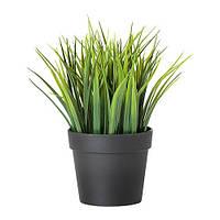 FEJKA Искусственное растение в горшке, трава