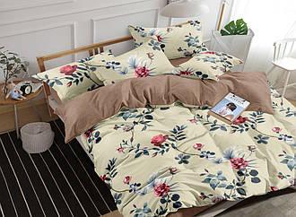 Комплект постельного белья семейный из сатина Роза молочная 150х220 см