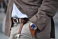Выбор ремня для мужчин под классические брюки