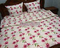 Комплект постельного БЯЗЬ оптом и в розницу, розовые лилии 0871