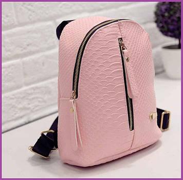 Гарний якісний рюкзак, Стильний жіночий рюкзак, Маленькі жіночі рюкзаки еко-шкіра, Гарний рюкзак