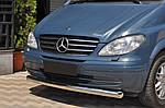 Губа нижняя ST008 (нерж) 2004-2010, 42мм для Mercedes Vito W639 2004-2015 гг.