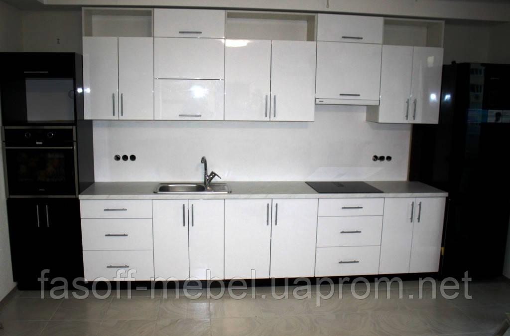 Кухня на заказ МДФ металлик крашеный глянец