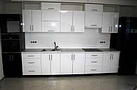 Кухня на заказ МДФ металлик крашеный глянец, фото 1