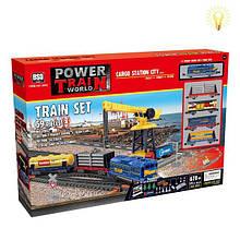 Игровой набор Железная дорога с подъёмным краном - Maya Toys (2082)