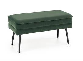 Банкетка  VELVA темно зеленый velvet (с нишей) (Halmar)