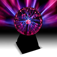 Плазменный шар Plasma ball 4″ маленький, детский светильник, Tesla плазма ночник шар с молниями