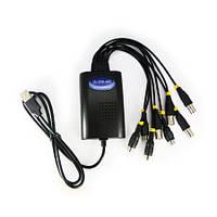 4-х канальный USB видеорегистратор с 4-мя аудио для записи видео с охранных камер на компьютер (мод. UU-DVR-4)