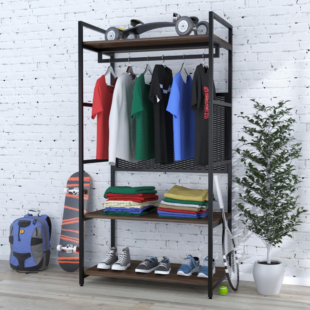 Стеллаж для одежды Loft Design LV-100 Орех Модена