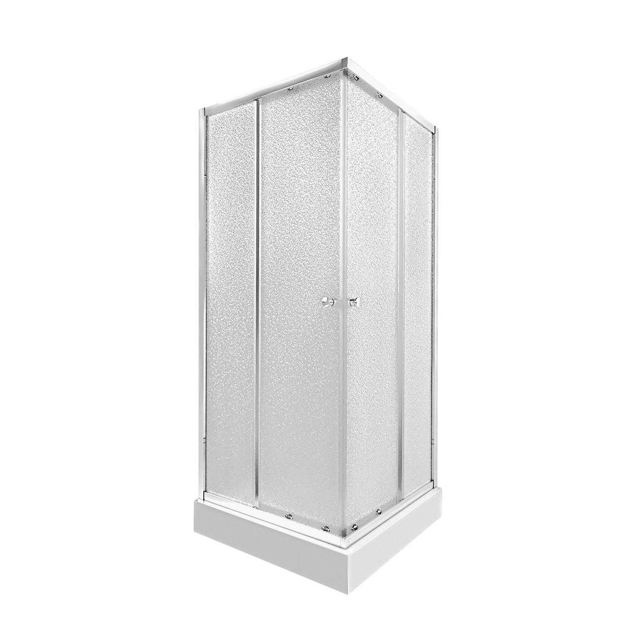 Набір Qtap душова кабіна Presto CRM1099SP5 Pear + піддон Unisquare 309915