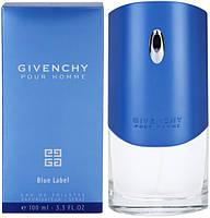 Мужская туалетная вода парфюм Дживанши Пур Хом Блу Лейбл 100 мл синий духи, фото 6