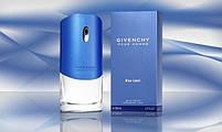 Мужская туалетная вода парфюм Дживанши Пур Хом Блу Лейбл 100 мл синий духи, фото 7