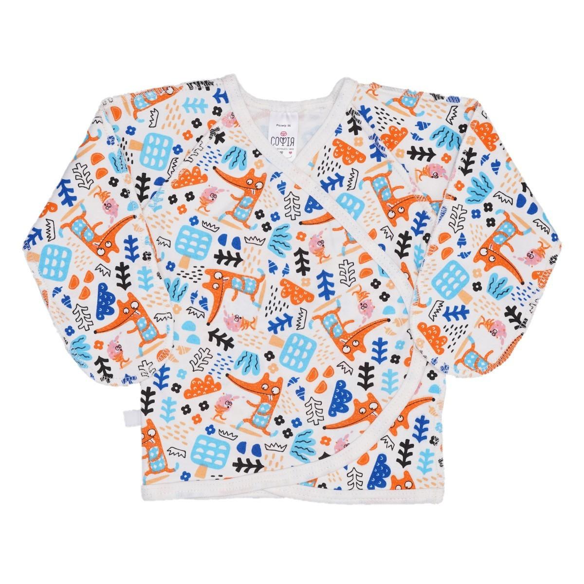 Сорочечка Софія Foxes 51-56 см молочний з принтом 1272