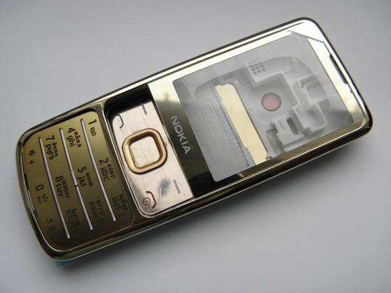 Корпус Nokia 6700C золото + клавиатура class AAA