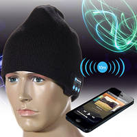 Чёрная bluetooth шапка со встроенными наушниками для прослушивания музыки с вашего телефона или смартфона при