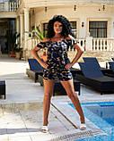 Женский летний комбинезон с шортами Софт Размер 42 44 46 48 50 52 В наличии 2 цвета, фото 3