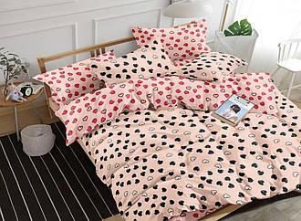Комплект постельного белья полуторный из сатина Валентинки 147х217 см