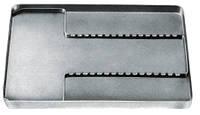 1000/V. Лоток неперфорированый, нержавеющая сталь, без вставки