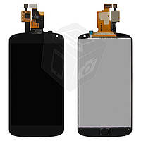 Дисплейный модуль (дисплей + сенсор) для LG E960 Nexus 4, черный, оригинал