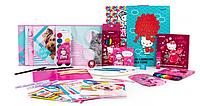 Набор первоклассника универсальный Kite K21-S04 Hello Kitty, канцелярский набор для первого класса Китти