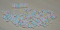 Бусины квадратные знаки зодиака  7 мм