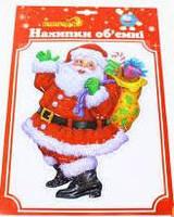 """Наклейки новогодние на окна объемные 34*23 см """"1 Вересня"""" 800775"""