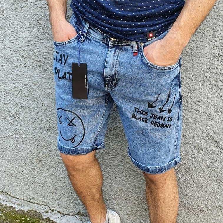 Шорти чоловічі молодіжні джинсові стрейч коттон (Туреччина) Про Д