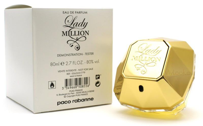 Тестер парфюмированная вода женская Paco Rabanne Lady Million (Пако Рабан Леди Миллион) 80 мл