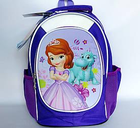 Школьный рюкзак для девочки, с ортопедической спинкой, София и дракоша