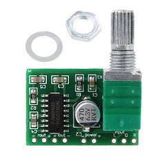 Аудіо підсилювач потужності звуку 2х3Вт з регулятором PAM8403