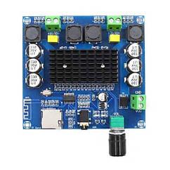 Аудіо підсилювач потужності звуку 2х100Вт з Bluetooth і MicroSD, TDA7498