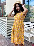 Женское летнее платье с коротким рукавом из штапеля, фото 2