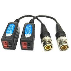 2х Пасивний UTP BNC відео трансивер, CCTV HD балун CVI TVI AHD 1080p