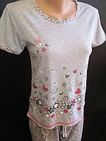 Пижамы с коротким рукавом и бриджами., фото 1