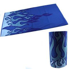Бафф бандана-трансформер, шарф з мікрофібри, 25 синій вогонь