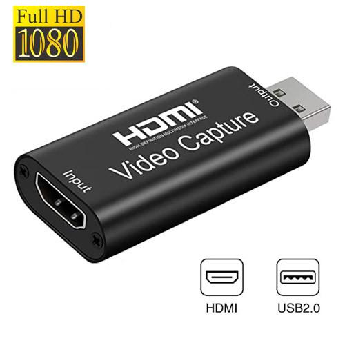 Карта відеозахоплення зовнішня, портативна, USB, HDMI, 1080p