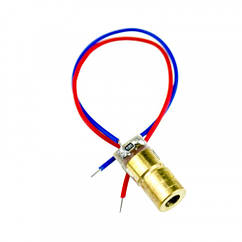 Лазерний діод модуль точка 5мВт 3В червоний 650нм