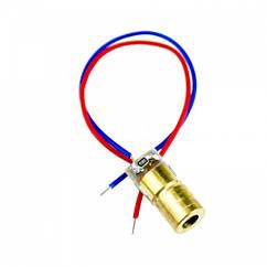 Лазерний діод модуль точка 5мВт 5В червоний 650нм