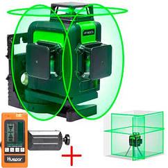 Професійний лазерний рівень нівелір 12 ліній 360 Huepar 903CG приймач