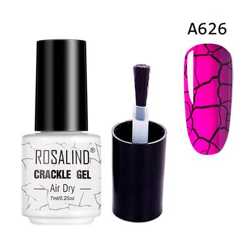 Гель-лак для ногтей маникюра 7мл Rosalind, кракелюр, А626 пурпурный