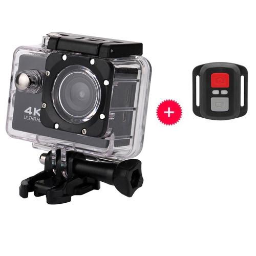 Відеокамера, екшн-камера водонепроникна 4K UKC CSZ-S3R, кріплення, ДУ