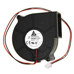 Вентилятор равлик 75мм 12В 2пин відцентровий турбіна кулер ЧПУ, сервера